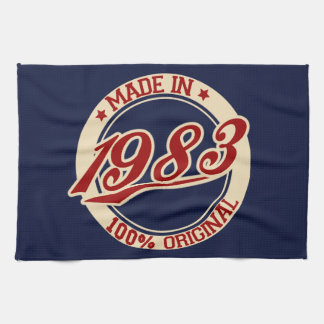 Made In 1983 Tea Towel