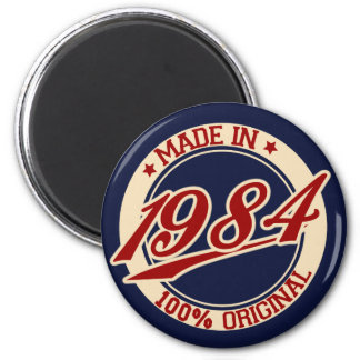 Made In 1984 6 Cm Round Magnet
