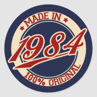 Made In 1984 Classic Round Sticker