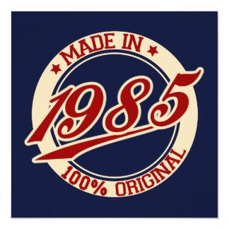 Made In 1985 13 Cm X 13 Cm Square Invitation Card