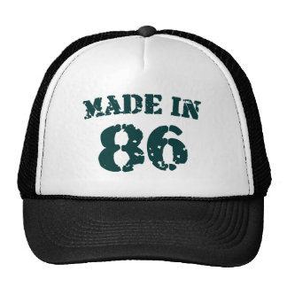 Made In 1986 Cap