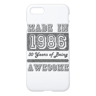 Made in 1986 iPhone 7 case