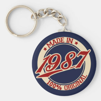 Made In 1987 Key Ring