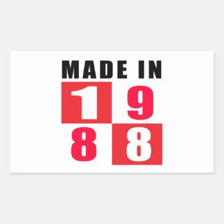 Made In 1988 Birthday Designs Sticker