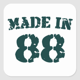Made In 1988 Square Sticker