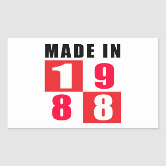 Made In 1988 Rectangle Sticker
