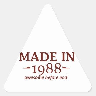 Made in 1988 triangle sticker