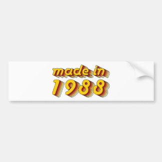 Made in 1988 (Yellow&Red) Bumper Sticker