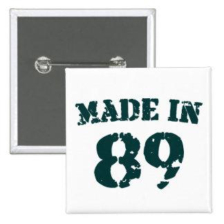 Made In 1989 15 Cm Square Badge