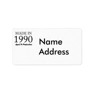 Made In 1990 Address Label