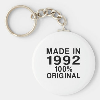 Made In 1992 Basic Round Button Key Ring