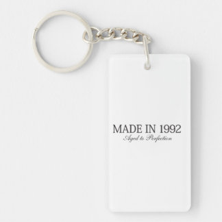 Made in 1992 Double-Sided rectangular acrylic keychain