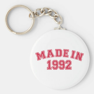 Made in 1992 key chain