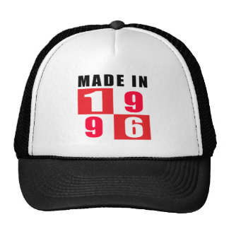 Made In 1996 Birthday Designs Mesh Hats