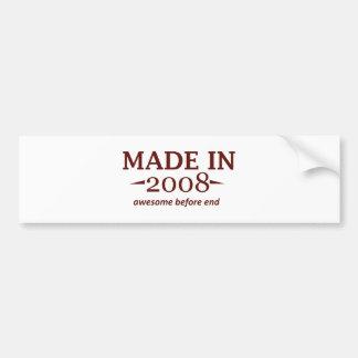Made In 2008 Birthday Designs Bumper Stickers