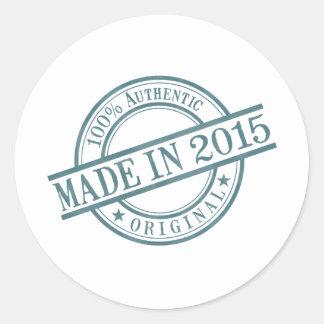 Made in 2015 round sticker