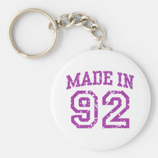 Made in 92 basic round button key ring
