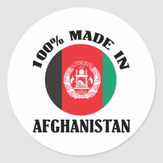 Made In Afghanistan Round Stickers