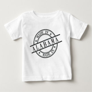 Made In Alabama Stamp Style Logo Black Baby T-Shirt