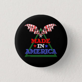 Made in America 3 Cm Round Badge