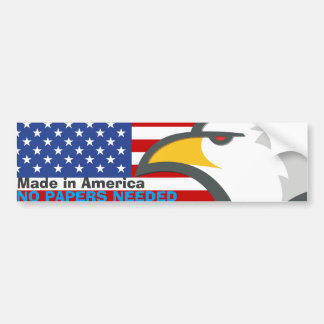 Made In America Patriot Bumper Sticker