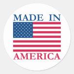 Made in America Round Sticker