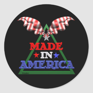 Made in America Round Sticker