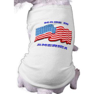 Made in America Sleeveless Dog Shirt