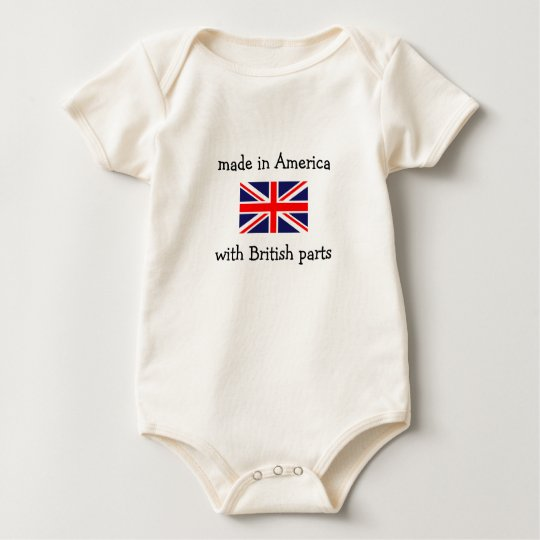 made in America with British parts Baby Bodysuit