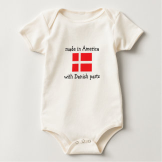 made in America with Danish parts Baby Bodysuit
