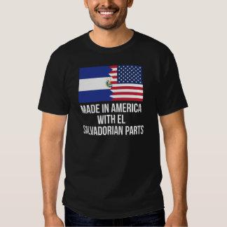 Made In America With El Salvadorian Parts Shirt