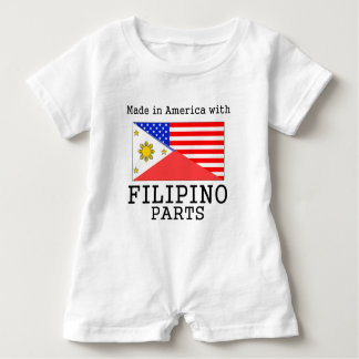 Made In America With Filipino Parts Baby Bodysuit