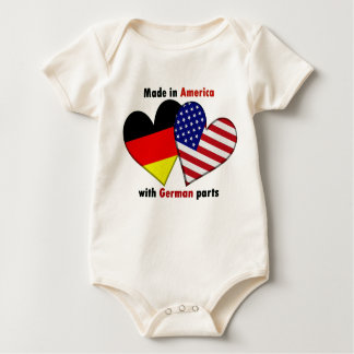 made in america with german parts baby bodysuit