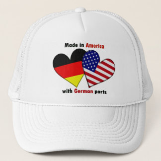 made in america with german parts trucker hat