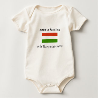 made in America with Hungarian parts Baby Bodysuit