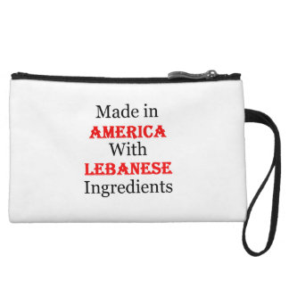 Made In America With Lebanese Ingredients Wristlet Clutches