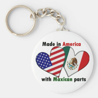 made in america with mexican parts key ring