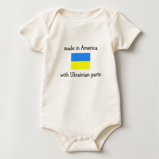 made in America with Ukrainian parts Baby Bodysuit