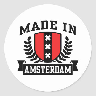 Made In Amsterdam Classic Round Sticker