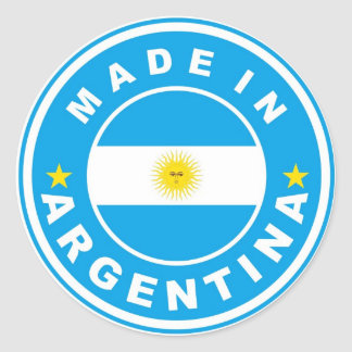 made in argentina country flag label round sticker