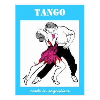 Made in Argentina Tango Post Card