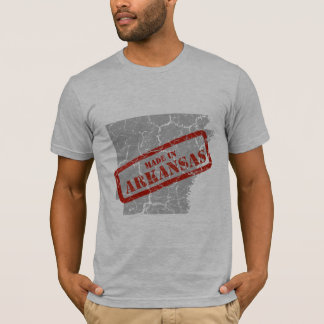Made in Arkansas Grunge Map Grey T-shirt