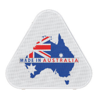 made in australia country map flag product label