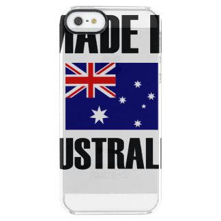 Made In Australia Flag Clear iPhone SE/5/5s Case