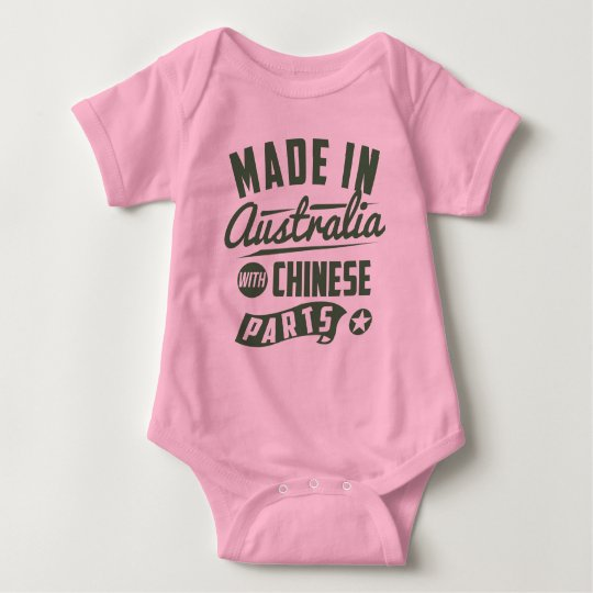 Made In Australia With Chinese Parts Baby Bodysuit