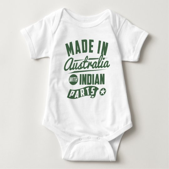 Made In Australia With Indian Parts Baby Bodysuit