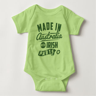 Made In Australia With Irish Parts Baby Bodysuit