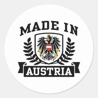 Made In Austria Classic Round Sticker