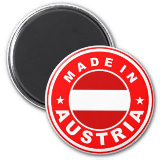 made in austria country flag label 6 cm round magnet