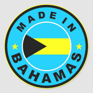 made in bahamas country flag label round stamp